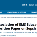 JEMS Publishes National Association of EMS Educators (NAEMSE) Position Paper Calling for Better Sepsis Education for EMS